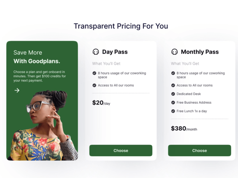 Figma pricing tables