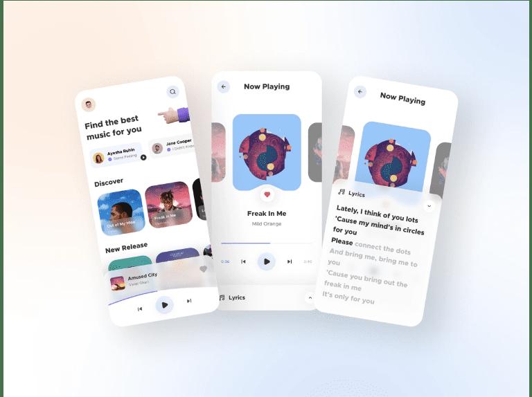 Figma Music Player App UI Freebie