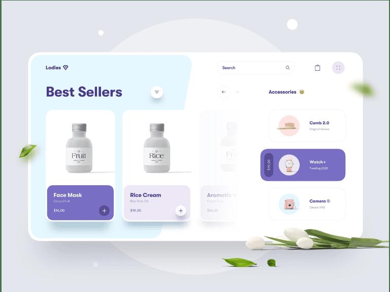 Figma Beauty Store Website Concept